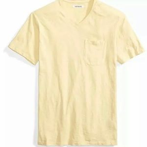 Goodthreads Men's Short-Sleeve V-Neck  Tee Yellow,